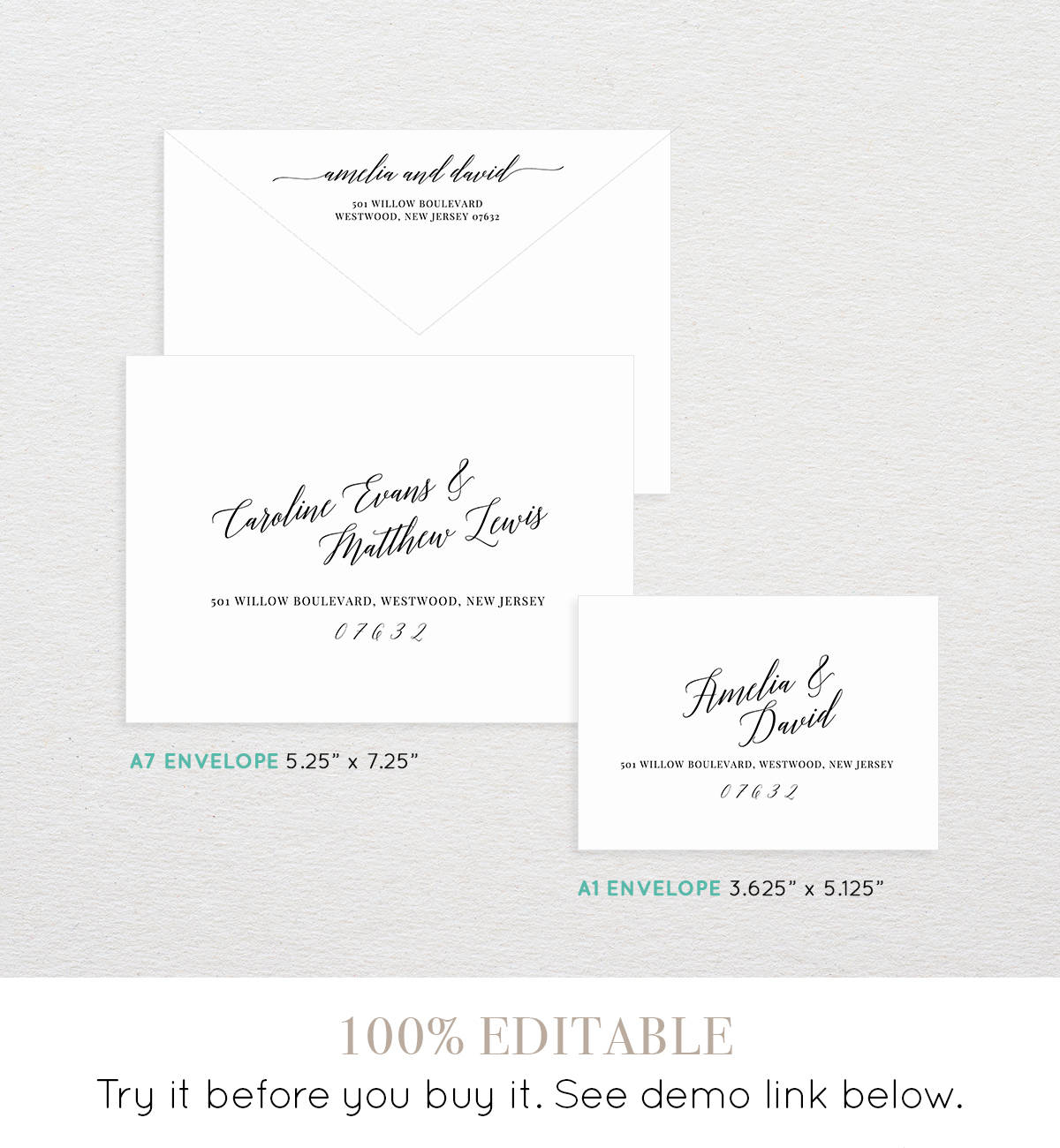 calligraphy envelope printable envelope template - 28 images ...
