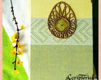 Ostara journal, wheel of the year, pagan journal, Wicca book,pagan gift, Wicca, wiccan gift, Book of Shadows, Easter Egg, rebirth, Ostara