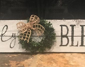 Simply blessed with wreath
