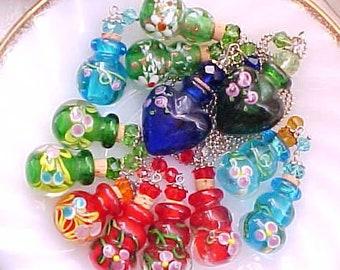 Glass Perfume Bottle Necklace Ash Urn Necklace Essential Oil Necklace Cremation Necklace Mourning Necklace for Ashes Perfume Necklace