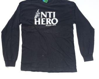 Vintage Anti Hero Skateboard Big Logo Crewneck Sweatshirt