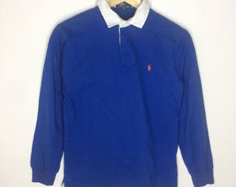 Rare!!! Vintage Polo Ralph Lauren Rugby Small Logo Long Sleeve