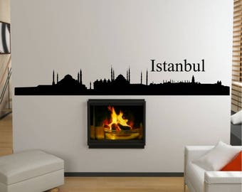Istanbul City Skyline Wall Art Sticker
