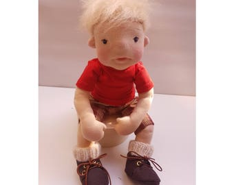 Waldorf-inspired character doll, boy, about 40 cm. Waldorf inspired character doll, boy, about 40 cm.