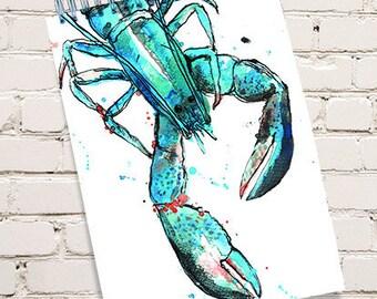 Blue Lobster Notepad