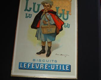 Biscuits LU Original Français affiche Firmin Bouisset. PLV. Pub. Collection. France