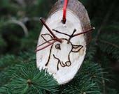 Reindeer Wood burned Chri...