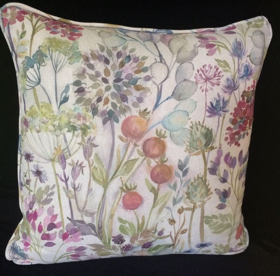 """VOYAGE HEDGEROW cushion cover in Multi Colourway, 20"""" decorative pillow, 20 inches voyage pillow, gift for new home"""