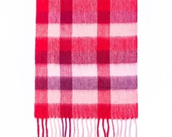 Broxburn personalised, monogrammed, super soft Lambswool Scarf. Embroidered with initials personalized gift for her and him.