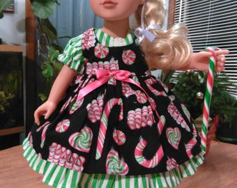 Jounrey girl doll candy cane dress, made special for your jounrey girl