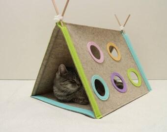 Modern Cat House modern pet pillow | etsy