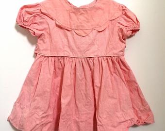 Vintage Baby Girl Gingham Dress