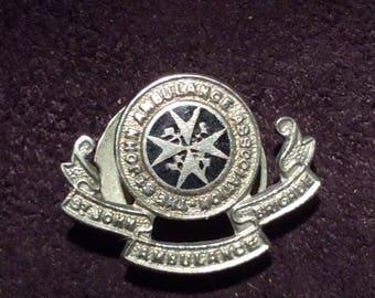 Vintages St John's Ambulance Buttonhole Badge