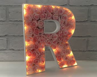 Light up initials, Initial lights, Light up marquee letters, LED home decor, LED letters, Light up nursery decor, Freestanding letter lights