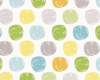 Sale White Dots Flannel Fabric from the Sweet Meadow Flannel Collection by Arrolyn Weiderhold for Wilmington Prints