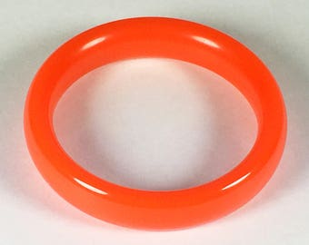 Vintage 1980s Orange Lucite Bangle Bracelet