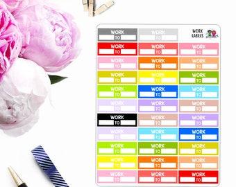 Multi-Color // Work Labels