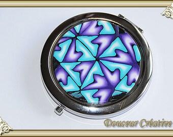 Mirror purple blue turquoise white 111010