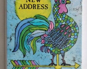 Vintage Hallmark New Address Cards -Unused in Package - Rooster Weathervane Design