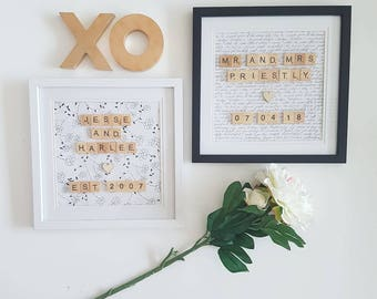 Love Is In The Air Scrabble Frames