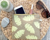 Banana Leaf Screen Printed Purse by Ottostop - summer, beach, holiday style!