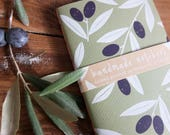 Handmade Olive Screen Printed Notebook by Ottostop