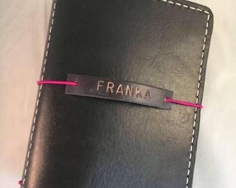 Personal size Handmade Leather Traveler's Notebook  / Bullet Journal / Journal Cover / Midori  / Uglydori / fauxdor