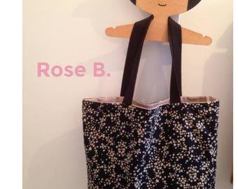 Black Star fabric bag / beige