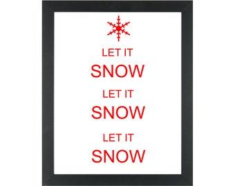 Christmas Print - Let it snow