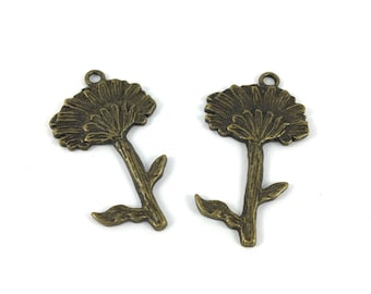 Package includes 2 large flower charms