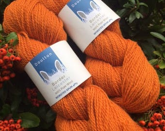 Burnt Orange 4ply yarn