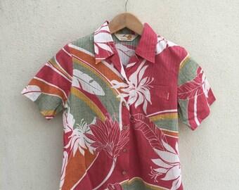 Mango Hawaiian Motive Shirt Blouse