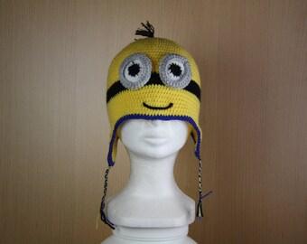 Cute yellow child crochet Beanie