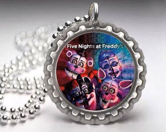 FNAF Five nights at Freddys Sister Location fashion Bottle Cap Necklace