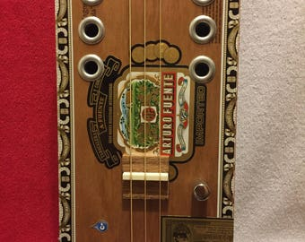 Three String Cigar Box Guitar w/Piezo Pickups