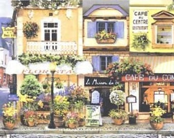 Lavender Street Cafe Wallpaper Border 5813805