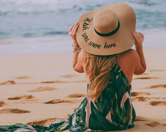 Wish you were here Floppy Hat Embroidered Leave a message Do not disturb