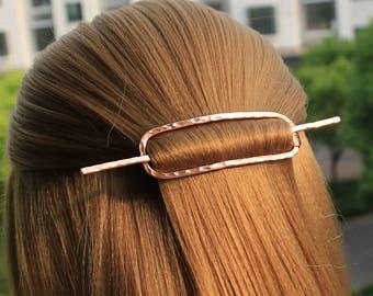 Rectangle Hair Barrette, Metal Hair Clip Hair Pin Hair Stick, Geometric Hair Slide Hair Jewelry, Pony Tail Bobby Pin, Accessories Women Gift
