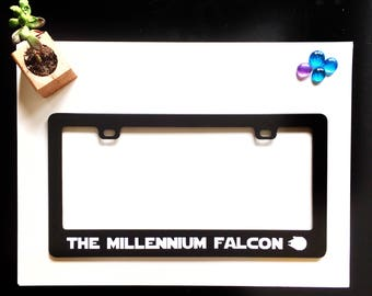 Millennium Falcon Inspired License Plate Frame