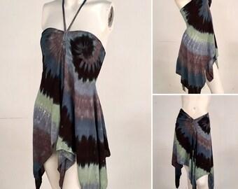 Convertible Top/Skirt Black Spiral - Size Large