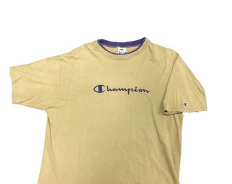 Vintage Champion Embroidered Tee Shirt