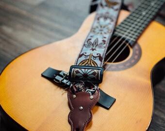 Vintage Guitar Strap - Unique Vintage Woven Guitar Strap, Best Guitar Player Valentine's Gift, Electric Guitar, Acoustic Guitar, Bass Guitar