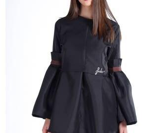 Black Shirt, Women Shirt, Extravagant Tunic, Steampunk Clothing, Victorian Top, Plus Size Shirt, Designer Top, Fashion Shirt, Oversized Top