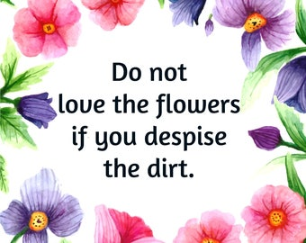 Flowers and Dirt Cross Stitch Pattern