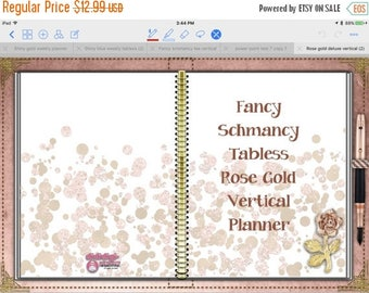 Final chance fancy Schmancy Rose Gold Vertical Digital Planner
