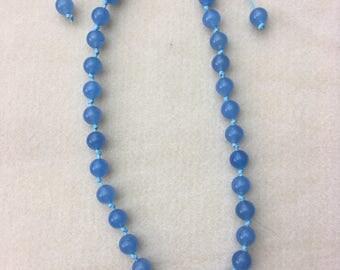 9mm Pale Blue Quartz necklace