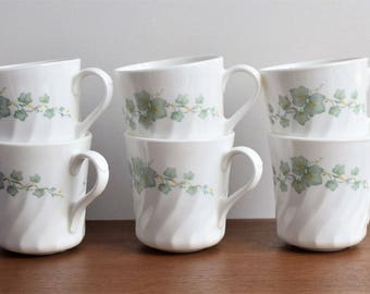 "Set of 6 Corning ""Callaway""  Mugs/ Cups/ Made in USA Dinner Ware"