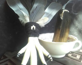 Raven Feather Ritual Incense Wand