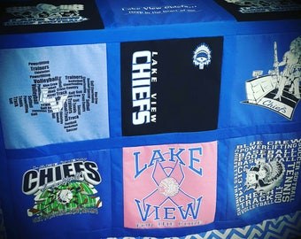 Tshirt Quilts, memory quilt, Custom Tshirt Quilts, Handmade Quilts, Gifts for Christmas, Birthday, Quilts