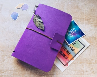 Minidori GALAXY, purple faux dori, traveler's notebook, Midori journal, diary, planner, faux dori for cosmos lovers